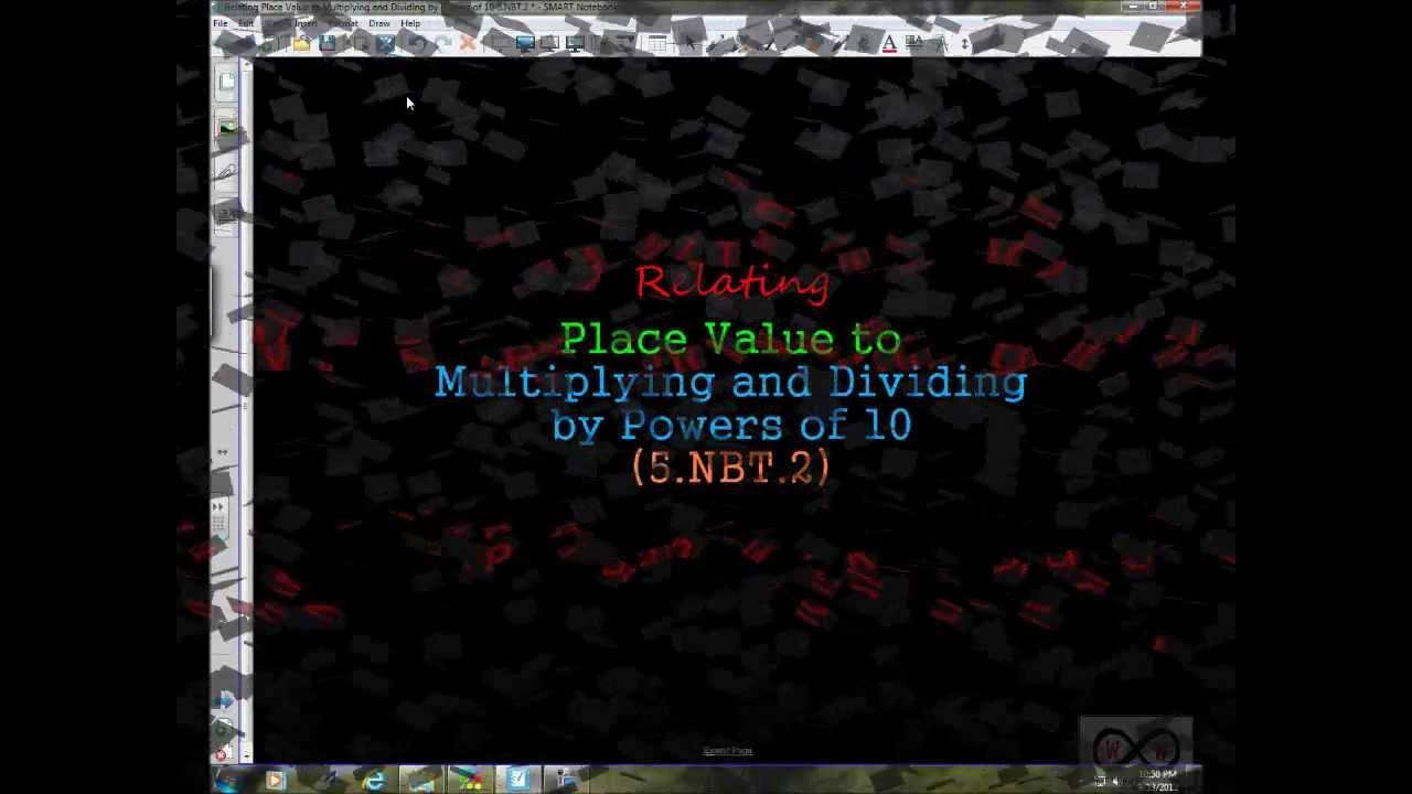 medium resolution of Relating Place Value to Multiplying and Dividing by Powers of 10 (5-NBT-2)  - YouTube