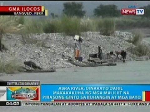 BP: Abra river, dinarayo dahil makakakuha ng mga maliliit na ginto sa buhangin at bato