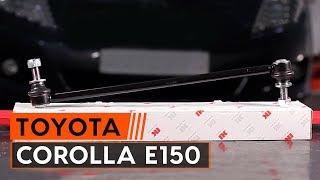 Cum să schimbați Rulment flansa amortizor COROLLA Saloon (E15_) - pas cu pas tutorial video