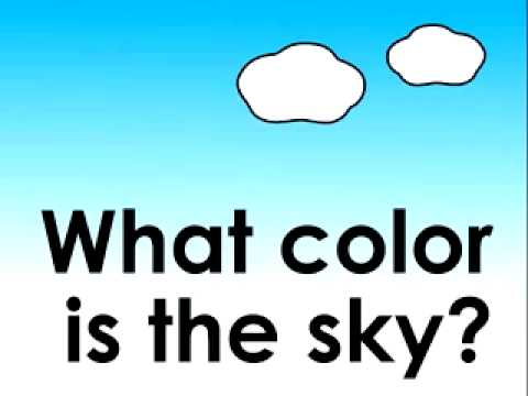 What color is the sky  » Tiếng Anh Trẻ Em Qua Bài Hát » Tiếng Anh trẻ em