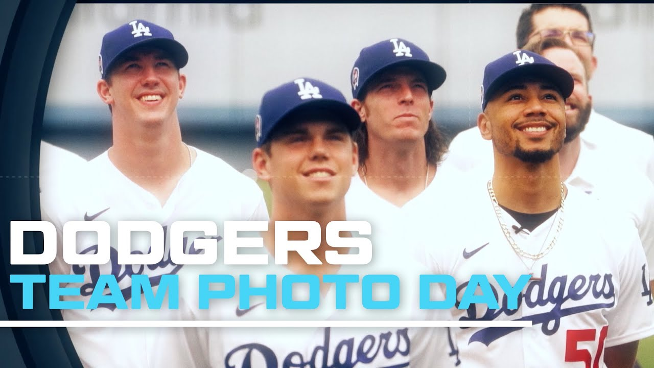 Dodgers Team Photo Day in 2020