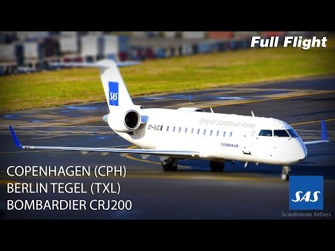 SAS CRJ200/CRJ 200 Full Flight - Copenhagen to Berlin Tegel