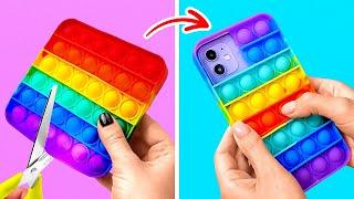 DIY unieke telefoonhoesjes || Antistress-hoesjes die je gemakkelijk kunt maken