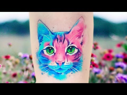Сharming Watercolor Tattoos by Adrian Bascur