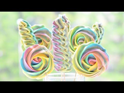 БЕЗЕ ☆ Меренга на палочке ☆ Радужный CandyBar ☆ 3 способа сушки