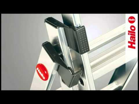 Trendig Kombileiter Hailo ProfiLOT 9312-501 Aluminium,max.Standhöhe 357cm  SI42