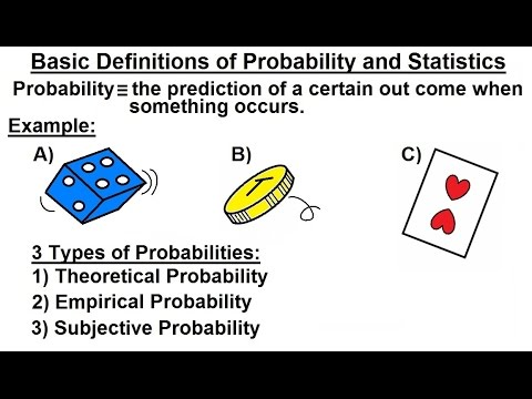 Probability & Statistics (1 of 62) Introduction