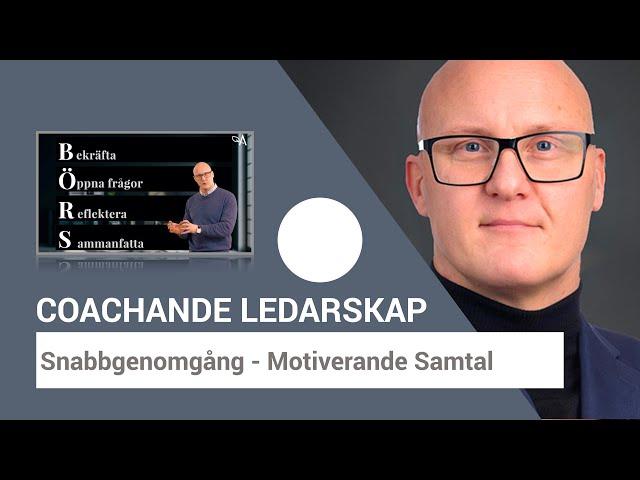 Motiverande Samtal - Exempel och Modellen BÖRS