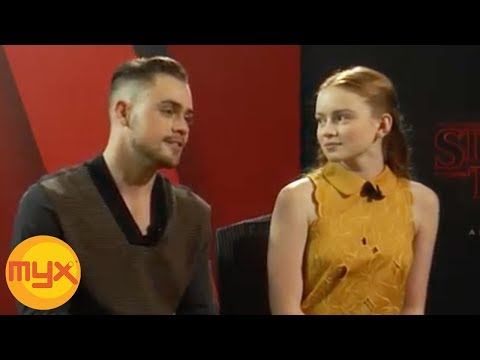 """MYXclusive Interview With """"STRANGER THINGS'"""" New Cast SADIE SINK And DACRE MONTGOMERY"""