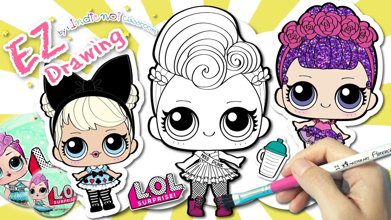 Coloring L O L Surprise Doll★mixed 2★learning Coloring