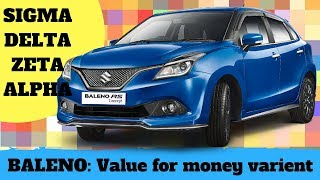 BALENO'S value for money & varient explanation:ALPHA|ZETA|DELTA|SIGMA