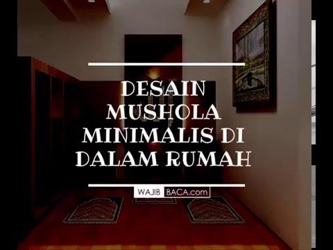desain minimalis mushola dalam rumah - youtube