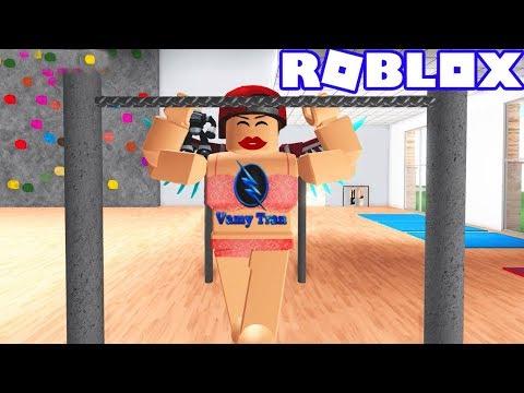 ROBLOX   Vamy Biến Thái Mặc Bikini Cẩm Hường Đi Tập Gym   Roblox Fitness Center   Vamy Trần