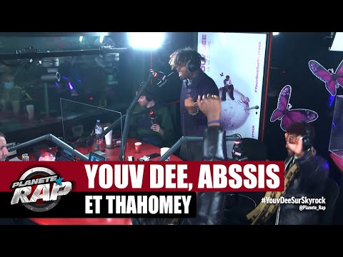 Youtube: Youv Dee – Session freestyle avec Thahomey & Abssis! #PlanèteRap
