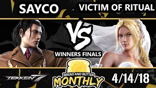 BnB 1 Tekken 7 - Sayco  (Dragunov) Vs. Victim of Ritual (Nina) - T7 Winners Finals