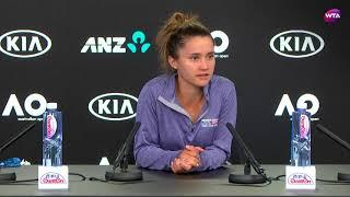 2018 Australian Open press conference: Lauren Davis on epic battle against Simona Halep