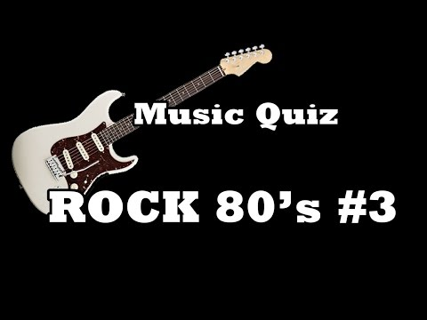 Music Quiz - Rock 80's #3