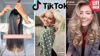 💇🏻‍♀️ TOP DIY HAIR TUTORIAL HAIR HACKS & TIPS TikTok Compilation V2