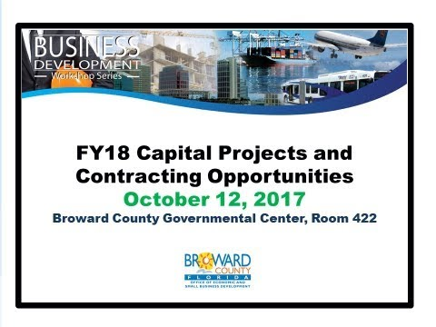 FY18 Capital Projects and Contracting Opportunities