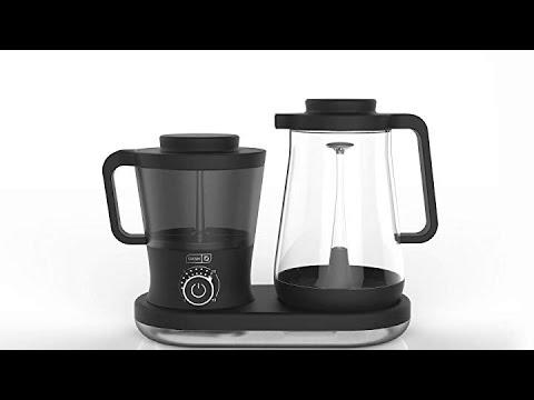 42 oz 1.5 L Carafe Pitcher Dash Rapid Cold Brew Coffee Maker with Easy Pour Spout Black