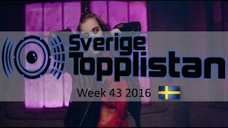 The Official Swedish Singles Chart TOP 20 | Week 43, October 22nd 2016