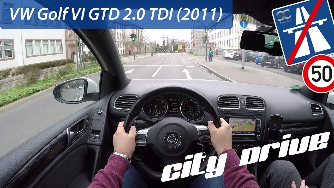 VW Golf 6 GTD (2011) - POV City Drive