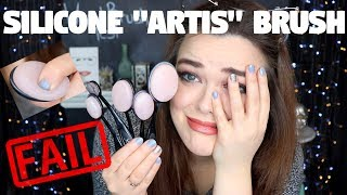 """FAIL! FULL FACE USING SILICONE """"ARTIS"""" BRUSHES! 