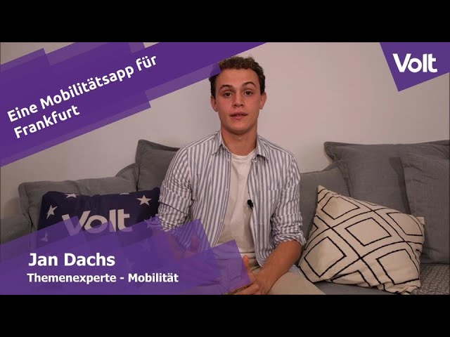 YouTube: Jan Dachs von Volt zur Mobilitätsapp