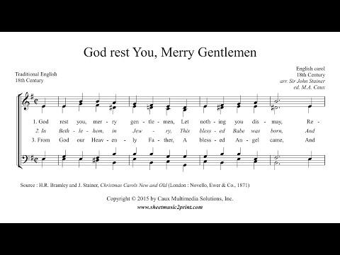 God Rest You, Merry Gentlemen - Choir SATB