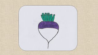 How to draw Turnip for kids