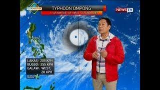 SONA: Hangin at ulan na dala ng bagyong Ompong, bukas na mararamdaman sa Bicol