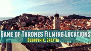 Dubrovnik, Croatia | Game of Thrones Locations(Alright Game of Thrones fans, we've nailed down most of the filming locating in Dubrovnik, Croatia for you! For more adventures: www.YouTube.com/mygeetube ..., 2016-01-17T22:12:12.000Z)