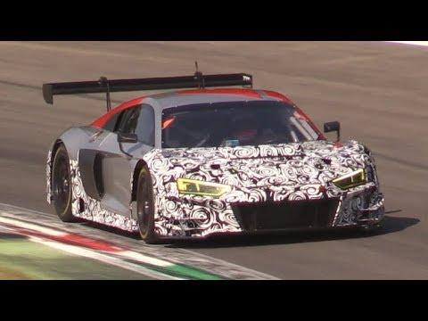 2019 Audi R8 Lms Gt3 Evo First Test At Monza Circuit Youtube