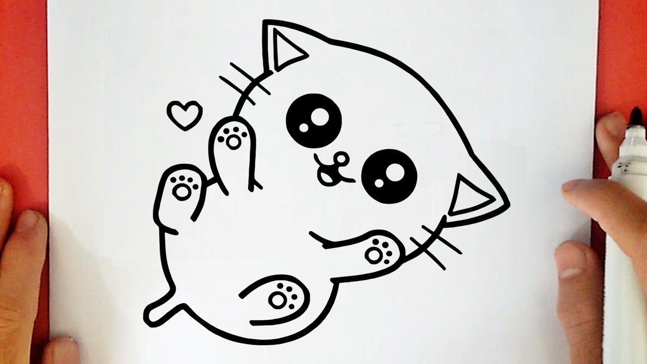 HOW TO DRAW A CUTE BABY KITTEN - YouTube