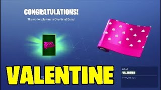 Fortnite overtime challenges. Valentine wrap - Powder skin new style
