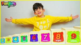 Playtime with Wooden Numbers Toys