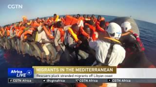 شاهد...غرق 20 مهاجرا على الأقل قبالة ساحل ليبيا