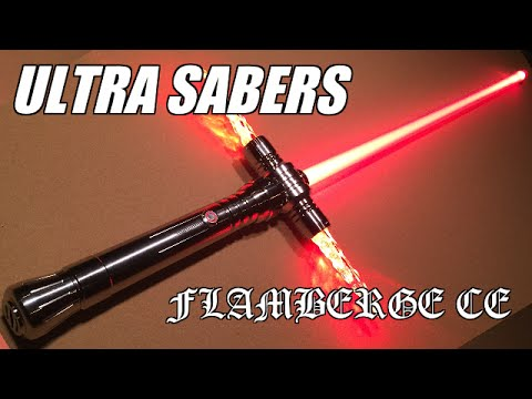 Ultra Sabers Emerald Flamberge Ce Lightsaber Review Youtube