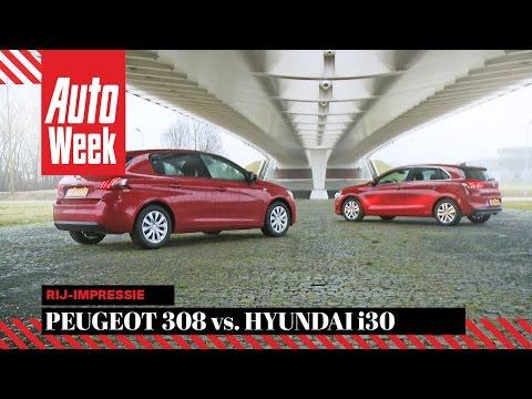Hyundai i30 vs. Peugeot 308 - Dubbeltest - English subtitles
