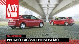 Hyundai i30 vs. Peugeot 308 - Dubbeltest - English subtitles