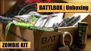 Zombie Survival Kit Unboxing | BattlBox Oct 2015 -- Survival Knives, Survival Axe, Paracord