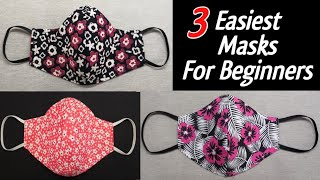 3 Very Easy New Style Pattern Mask Face Mask Sewing Tutorial Diy Cloth Face Mask New Style Mask
