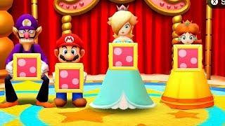 Party The Top 100 - MiniGames - Mario Vs Princess Rosalina Vs Daisy Vs Waluigi