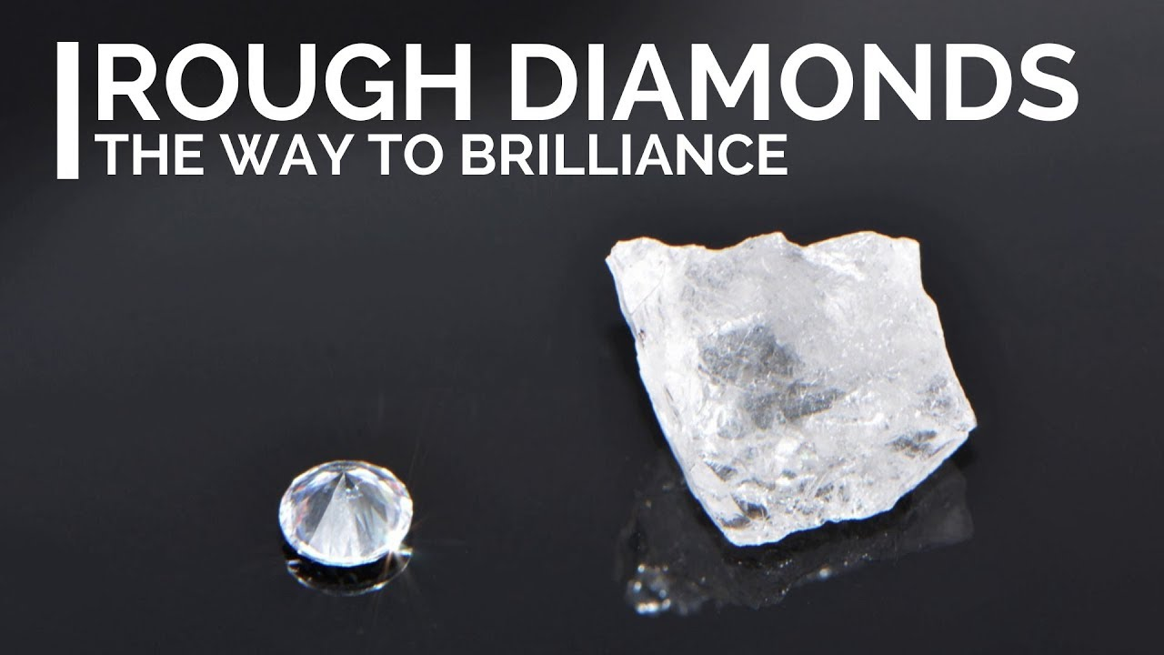 Rough Diamonds How Diamonds Look Like Before They Are Cut And Polished Youtube