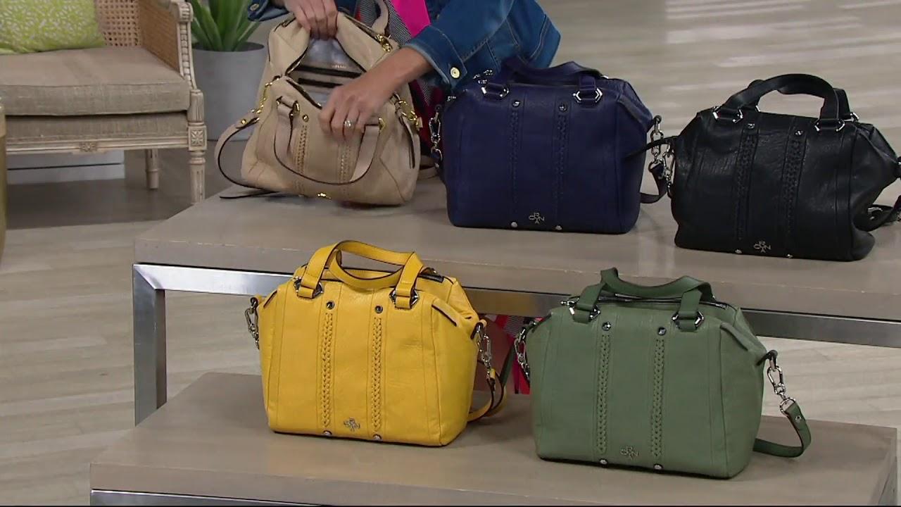 ac4103e03761 orYANY Lamb Leather Satchel Handbag - Nola on QVC - YouTube