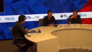 THE RASMUS press conference: BORSCH! - Moscow, Rossiya Segodnya 29.01.2018