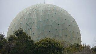 茨城県行方市にある内閣衛星情報センター北浦副センターのレーダードー...