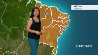 Previsão Nordeste – Ar mais seco no interior