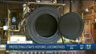 Maintaining steam engines at Golden Spike National Historical Park