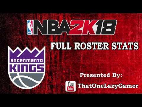 """NBA 2K18 """"Sacramento Kings"""" Full Roster stats"""
